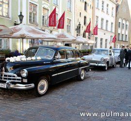 Pulmaauto rent. Retro limusiini rent Pärnus. Zin ja Volgad.